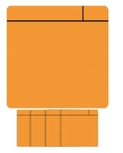 , Magneet scrum 75x75mm oranje