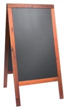 , Stoepbord Securit 70x125x4cm mahonie hout