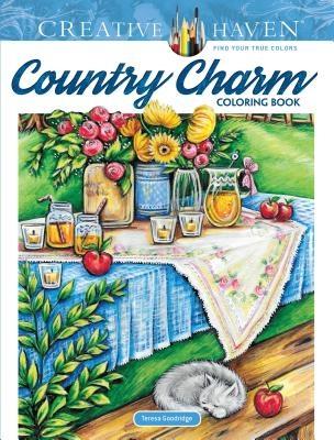 Teresa Goodridge,Creative Haven Country Charm Coloring Book