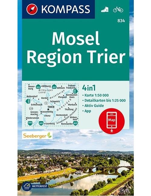 ,Kompass WK834 Mosel, Region Trier