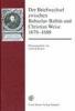Der Briefwechsel zwischen Bohuslav Balbín und Christian Weise 1678-1688,Lateinisch-deutsche Ausgabe