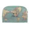 ,Toiletzak Wash & Go RETRO vintage world map
