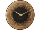 <b>wandklok NeXtime dia. 43      sahara glas koper spiegel                                   wijzer goud - uurwerk stil</b>,
