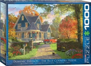 Eur-6000-0978 , Puzzel the blue country house - dominic davison 1000 stuks