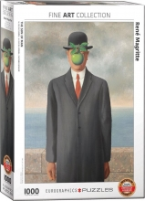 Eur-6000-5478 , Puzzel the son of man - rene magritte- eurographics - 1000 stuks