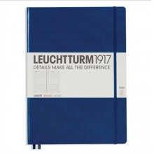 Lt342926 , Leuchtturm notitieboek master slim a4 lijn marineblauw