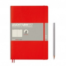 Lt349305 , Leuchtturm notitieboek composition softcover 178x254 mm blanco rood
