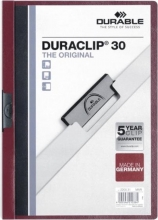 , Klemmap Durable 2200 A4 3mm aubergine