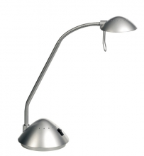 , bureaulamp Alco halogeen G4 230/12V, 20W, zilver