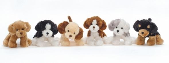 , Knuffel mischievous dogs assorti - knuffel - pluche