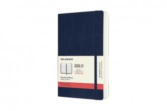 , Moleskine 18 MND Agenda - 2020/21 - Dagelijks - Large (13x21 cm) - Sapphire Blue - Zachte Kaft
