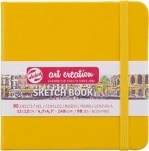 9314114m , Talens art creation schetsboek 12x12 cm 140 gr 80 vel golden yello