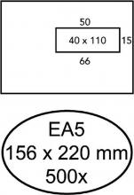 , Envelop Quantore 156x220mm venster 4x11cm rechts 500stuks