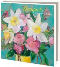 Wmc1027 , Notecards 10 stuks 15x15 bouquets anke van den burg
