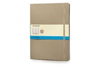 Moleskine Classic Colored Notebook, Extra Large, Dotted, Khaki Beige