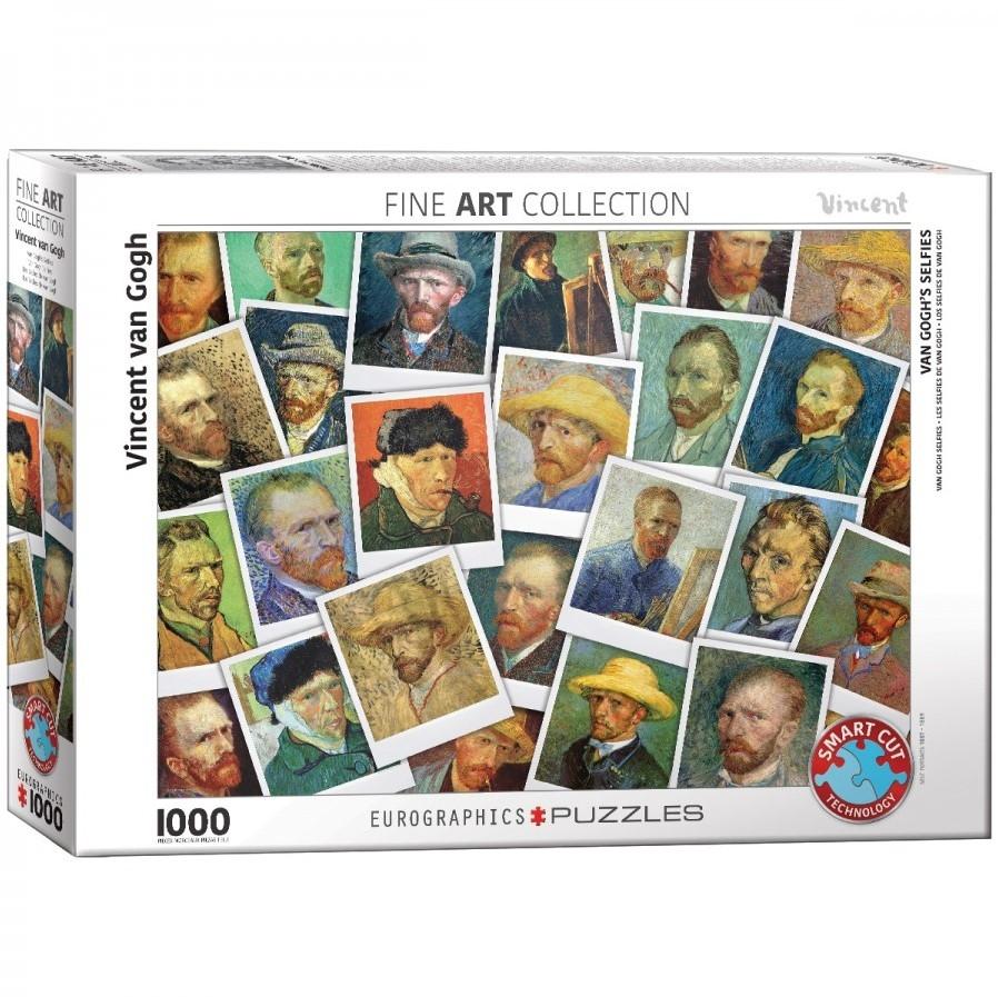 Eur-6000-5308,Puzzel eurograpics van gogh selfies 1000 stukjes