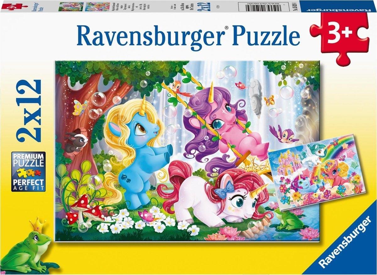 Rav-050284,Puzzel magische eenhoornwereld 2x12 stukjes