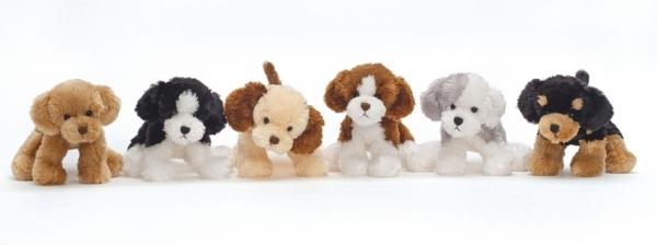 ,Knuffel mischievous dogs assorti - knuffel - pluche
