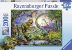 <b>Rav-127184</b>,In het rijk van de giganten - dinosauriers - puzzel - ravensburger - 200 - 8+