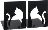 <b>Mos-82778</b>,Boekensteunen katten metaal zwart