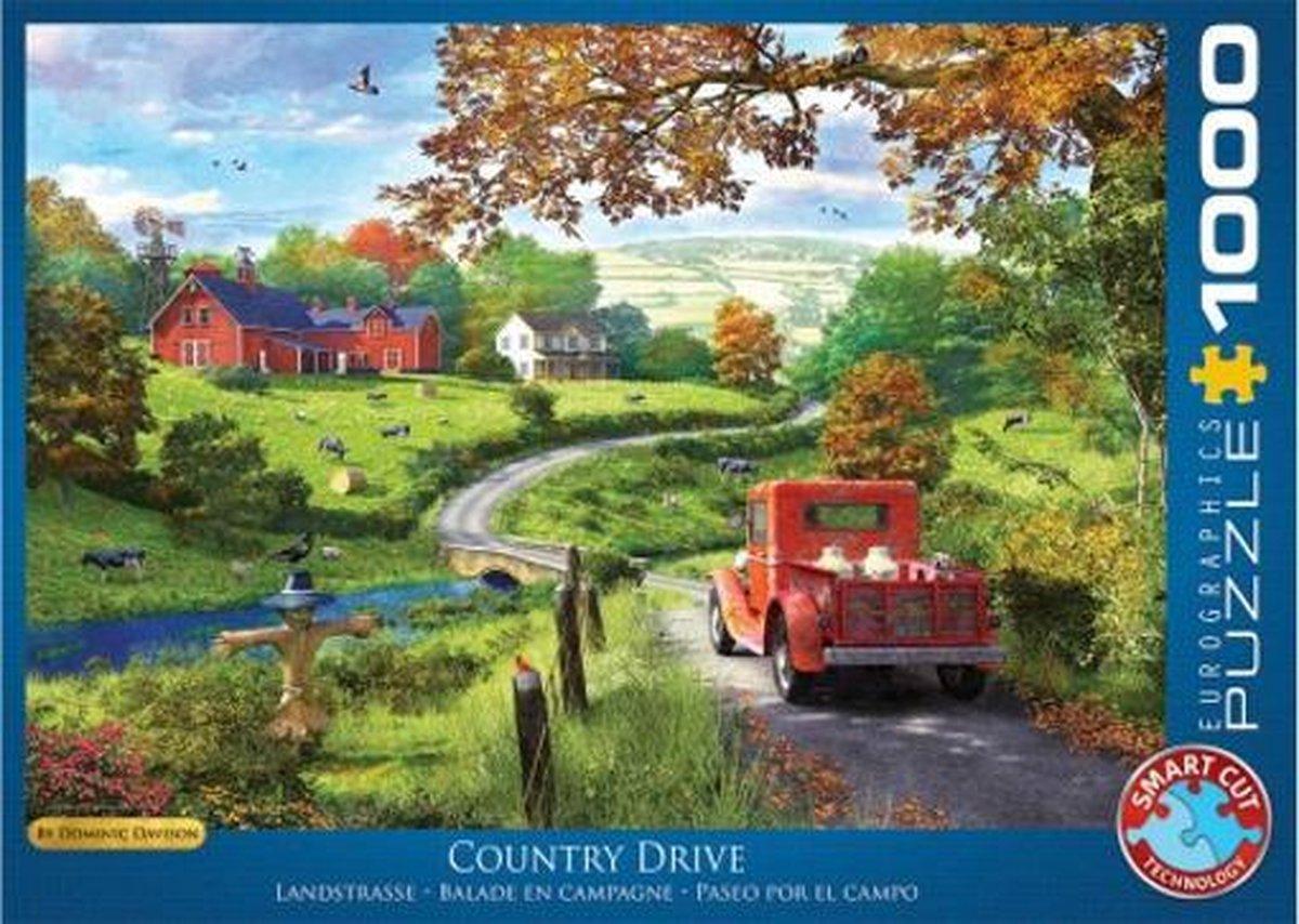 Eur-6000-09868,Puzzel country drive - eurographics- 1000 stuks