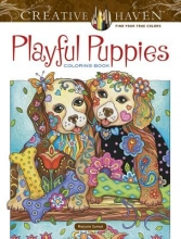 Marjorie Sarnat Creative Haven Playful Puppies Coloring Book (working title)