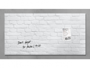 , glasmagneetbord Sigel Artverum 910x460x15mm White Klinker