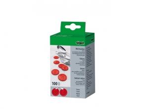 , waardemunten Sigel kunststof 100 stuks 25mm eten rood