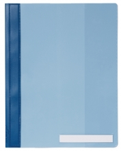 , Snelhechter Durable 2510 A4 PVC extra breed blauw