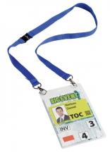 , Badge Durable voor evenementen A6 met koord blauw