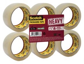 , Verpakkingstape Scotch Heavy 50mmx66m transparant 6 rollen