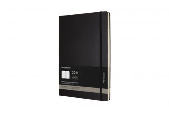 , Moleskine 12 MND Agenda - 2021 - Professional Wekelijks - Vertical A4 - Zwart - Harde Kaft