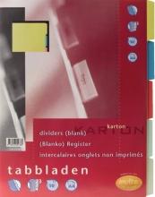 , Tabbladen Multo A4 23R karton 10-delig assorti