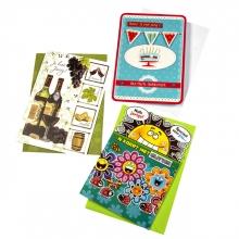 , Wenskaart Paperclip navulset verjaardag set à 12 kaarten