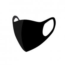 , Mondkapje wasbaar zwart