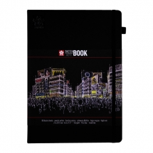 , Schets-notitieboek Sakura A4 zwart