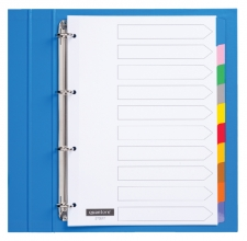 , Tabbladen Quantore 4-gaats 10-delig wit karton