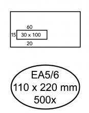 , Envelop Hermes Digital EA5/6 110x220mm venster 3x10links zel