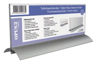 , Tafelnaambord OPUS 2 105x297mm acryl aluminium