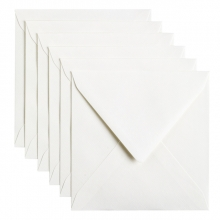 , Envelop Papicolor 140x140mm hagelwit