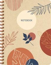 ZNU , Botanical Kraft spiraalboek groot (lijnen)
