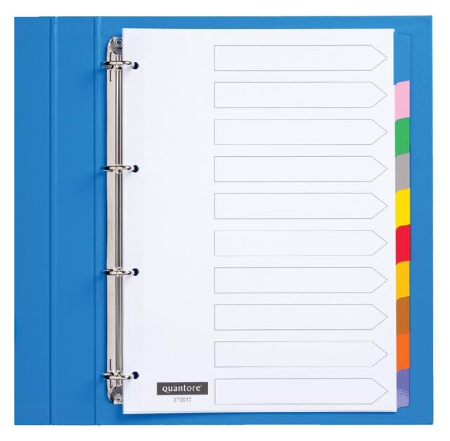 ,Tabbladen Quantore 4-gaats 10-delig wit karton