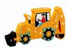 ,Houten puzzel Graafmachine - Leren tellen 1-10 - Lanka Kade