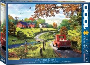 Eur-6000-09868 , Puzzel country drive - eurographics- 1000 stuks