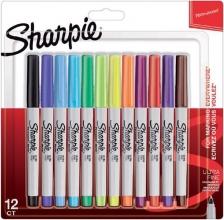 , Viltstift Sharpie rond 0.5mm blister à 12 stuks fun assorti