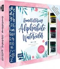 Janssen, Martina Johanna Handlettering Alphabete Watercolor - Das Starter-Set - Feine Buchstaben mit Pinsel und Brush Pen