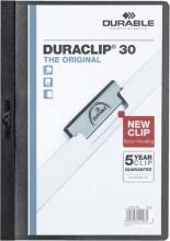 , Klemmap durable 2200 a4 pl/tr 3mm zwart