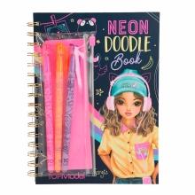 , Topmodel neon doodle kleurboek