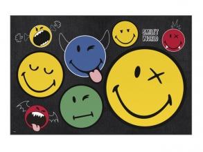 , Bureauonderlegger smiley world crazy things
