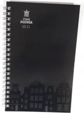 520stu113 , Studieagenda 2020-2021 zwart spiraal amsterdam a5
